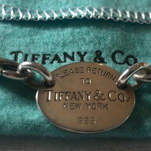 "Tiffany & Co ""Return to Tiffany"" Oval Tag Necklace"